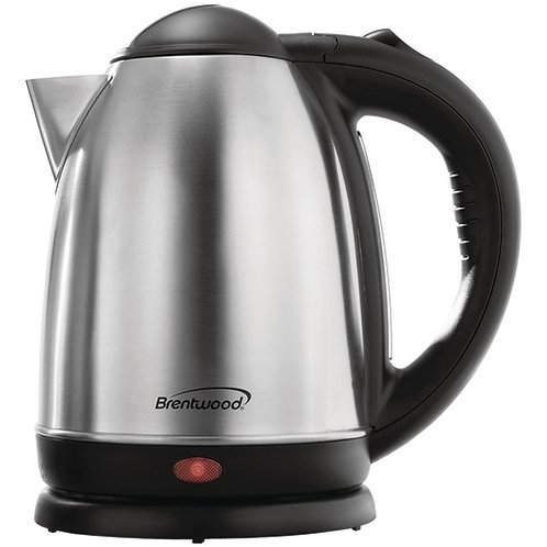Brentwood 1.7-Liter Stainless Steel Electric Cordless Tea Kettle