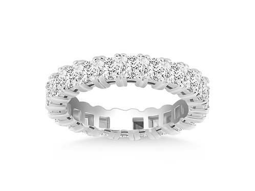 Classic Princess Cut Diamond Eternity Ring in 14k White Gold