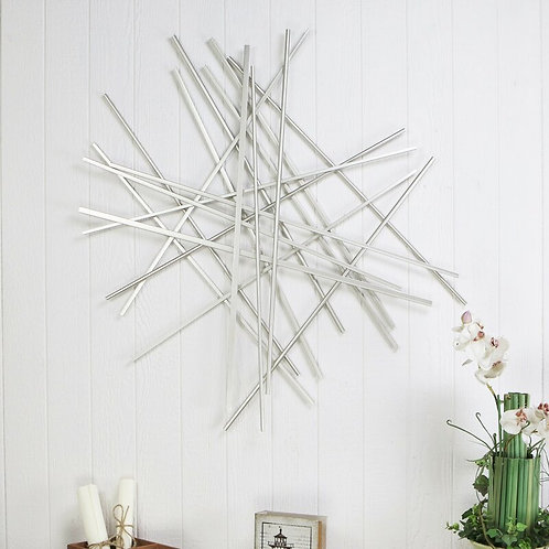 Abstract Pick Up Sticks Metal Wall Décor