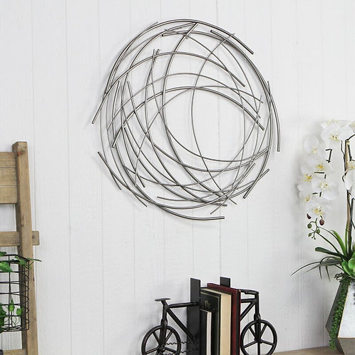 Contemporary Abstract Round Wall Décor