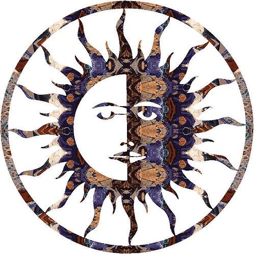 """8"""" Sun Moon - Southwest Laser Cut Metal Wall Art"""