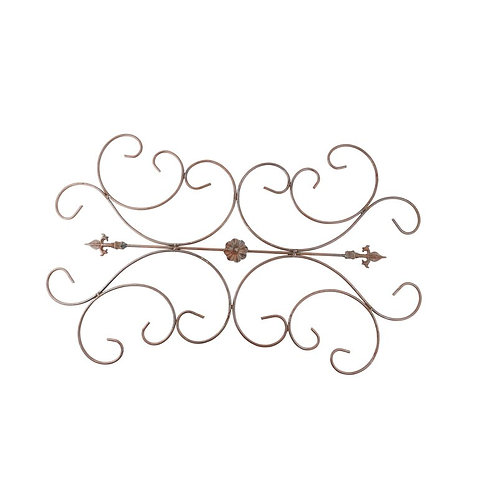 Finial Iron Scroll Wall Decor