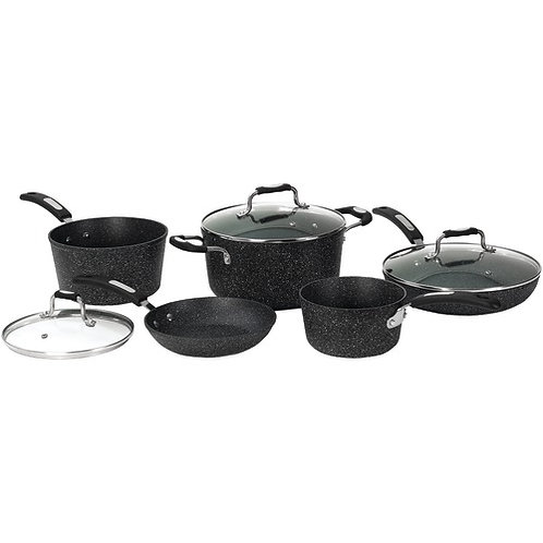The Rock By Starfrit The Rock By Starfrit 8-Piece Cookware Set With Bakelite Han