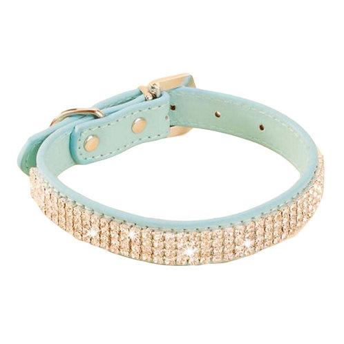 Rhinestone Pet Collars - Dog Collars - Pet Supplies -- Rhinestone Blue