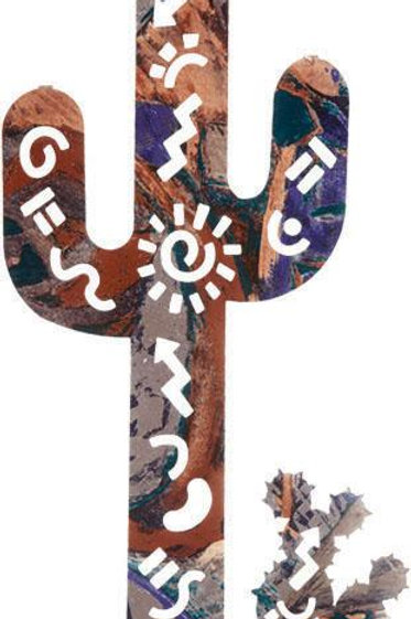 Story Cactus By Lazart - Southwest Laser Cut Metal Wall Art