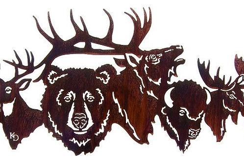 Park Crew By Kathryn Darling - Wildlife Laser Cut Metal Wall Art