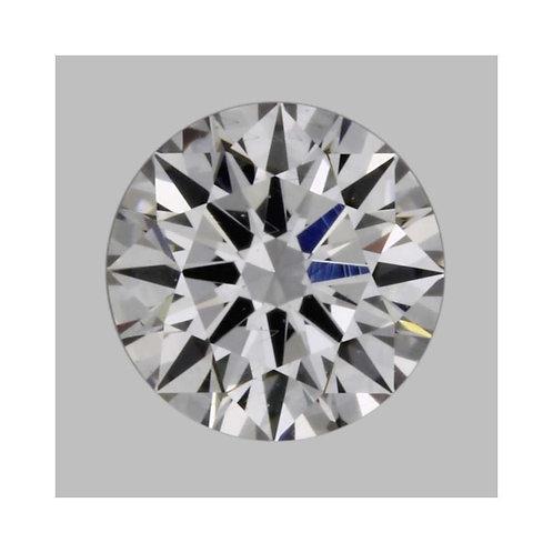 0.30 Carat Round Loose Diamond, Faint Pink, S I1, Super Ideal, GIA Certified