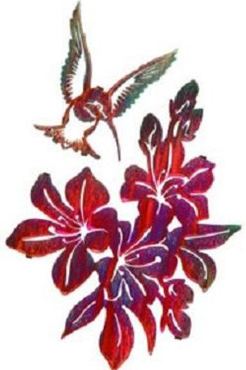 Hummingbird Feed By Kathryn Darling - Nature Metal Wall Art