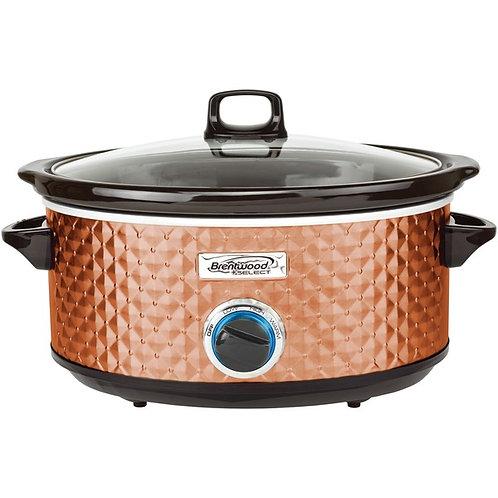 Brentwood Appliances 7-Quart Slow Cooker (Copper)