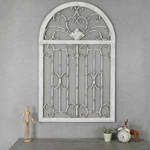 Metal Window Scroll Wall Décor
