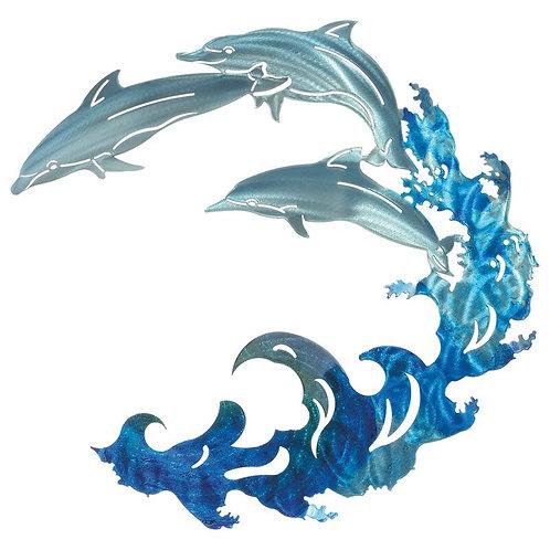 3D Large Dolphin Wall Décor