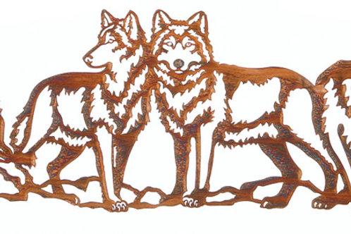 Pecking Order By Kathryn Darling - Wildlife Laser Cut Metal Wall Art