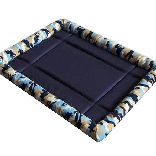 [Camo Blue] Soft Pet Beds Pet Mat Pet Crate Pads Cozy Beds For Dog/Cat