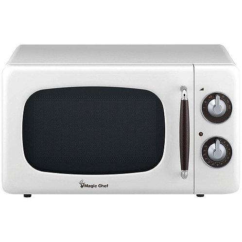 Magic Chef .7 Cubic -Ft 700-Watt Retro Microwave (White)