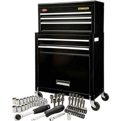 Stanley Rolling Tool Chest With Bonus 68 Piece Mechanic Set