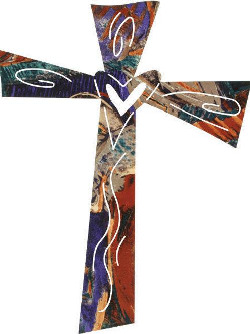 Comfort By Robert Shields - Metal Wall Art Cross