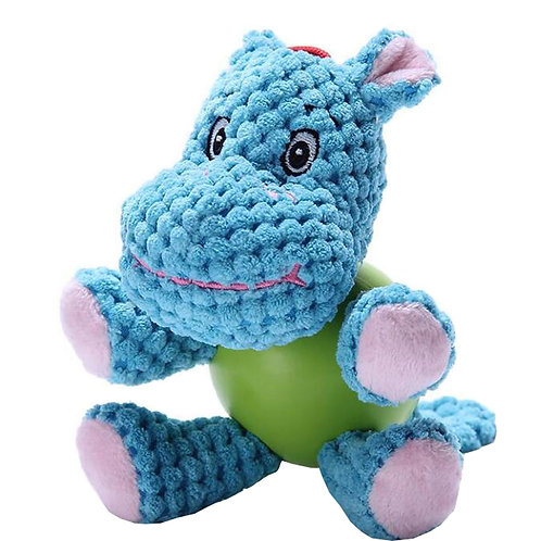 Cute Hippo Design Dogs Chew Play Toys