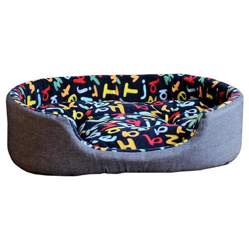 Detachable House Pet Mat Stylish Rectangle Pet Bed Pet House Kennel Letter