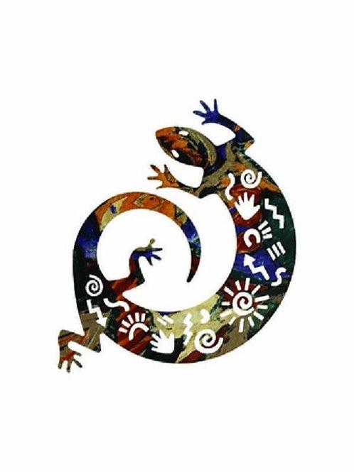 Story Lizard- Southwest Laser Cut Metal Wall Art