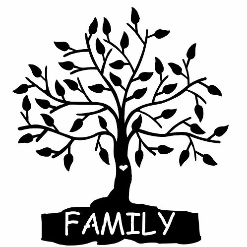 Family Tree Steel Laser Cut Wall Décor