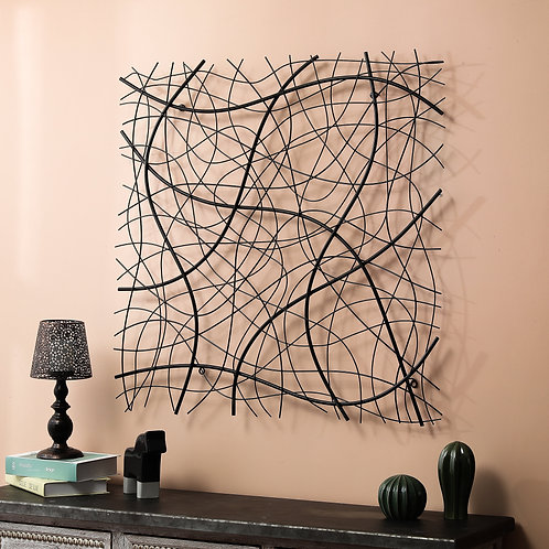 Abstract Square Metal Wall Décor