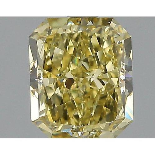 1.04 Carat Radiant Loose Diamond, Fancy Brownish Yellow, VS2, Ideal,
