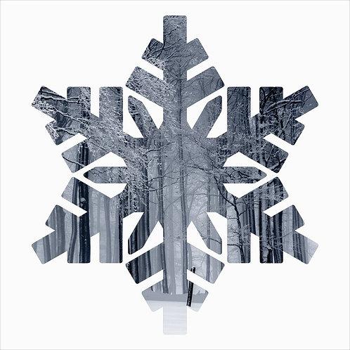 Snowflake Metal Laser Cut Wall Décor