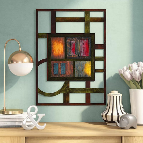 Abstract Metal Wall Décor