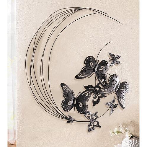 Metal Flying Butterflies Wall Décor