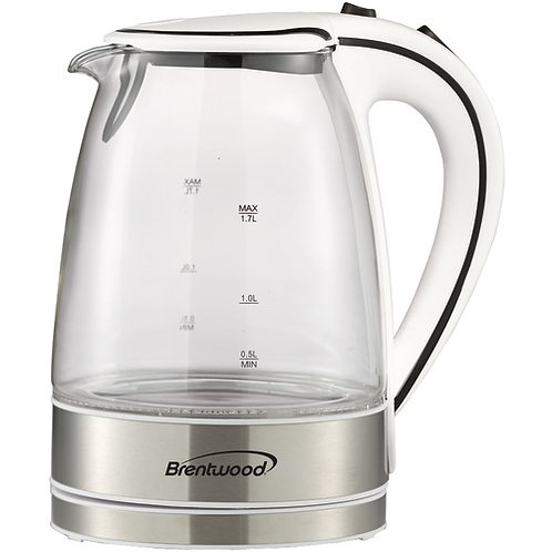 Brentwood 1.7-Liter Glass Electric Kettle
