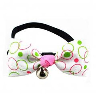 Adjustable Dog/Cat Collar Bow Ties Necklace With Bell Grooming Accessories