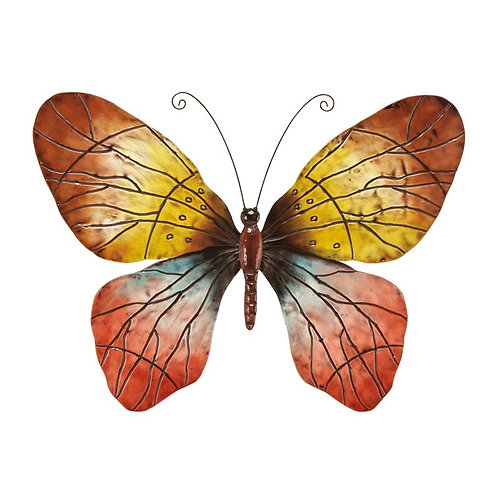 Natural Iron Butterfly Wall Decor