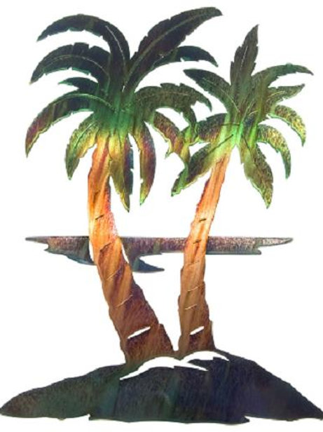 Palm Trees By Neil Rose - Nature Metal Wall Art