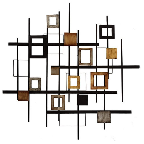 Abstract Rectangles Metal Wall Décor