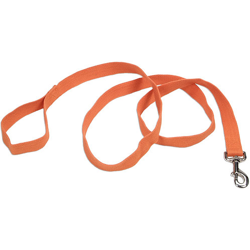 "Coastal Soy 1"" Dog Leash 6'-Pumpkin"