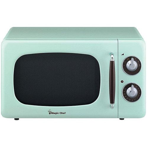 Magic Chef .7 Cubic -Ft 700-Watt Retro Microwave (Mint Green)