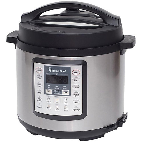 Magic Chef 6-Quart 7-In-1 Stainless Steel Multicooker
