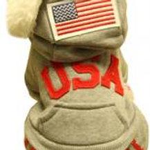 Warmth Pet Dog Clothes Winter Dress Fashion Pet Dog Clothing USA Cloth Gray