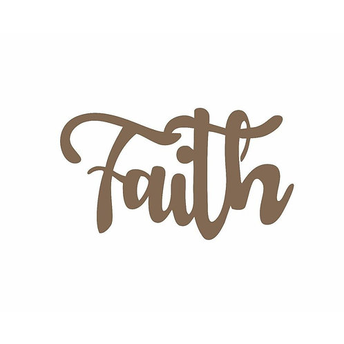 Faith Script Steel Laser Cut Wall Décor