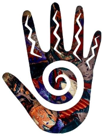 Swirl Hand By Bindrune Design - Southwest Laser Cut Metal Wall Art