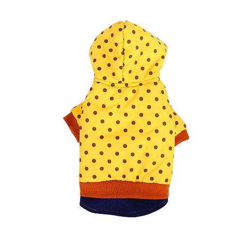 Autumn And Winter Clothes For Puppy With Dot Pattern Dog Warm Clothing