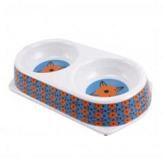 Pet Bowls Dog Bowls Double Bowls Imitation Ceramic Melamine
