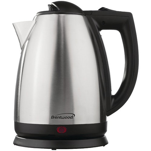 Brentwood 2L Stainless Steel Electric Cordless Tea Kettle