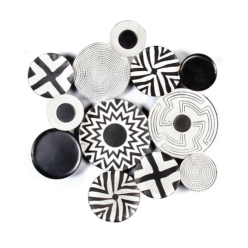Abstract Metal Discs Wall Décor