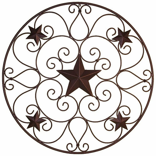 Star with Scroll Metal Wall Décor