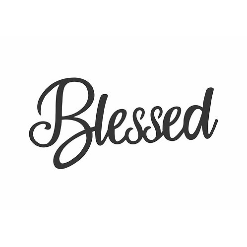Blessed Script Laser Cut Wall Décor
