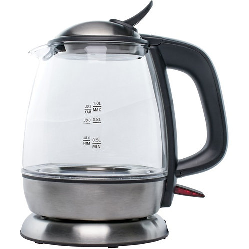 Brentwood Appliances 1-Liter Cordless Glass Electric Kettle