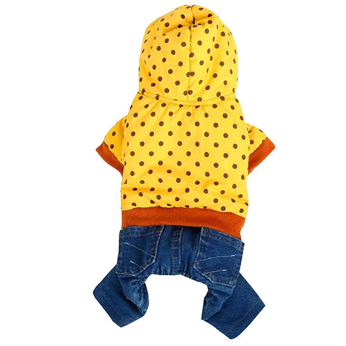 Dog Warm Clothing Autumn And Winter Clothes For Puppy With Dot Pattern