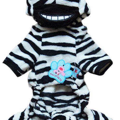 Fashion Pet Dog Warmth Clothes Clothes Winter Dress Zebra Pet Clothes