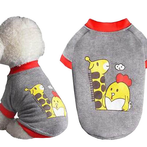 Pet Clothes Small Dog Clothes Fashion Spring Summer Clothes [Giraffe]